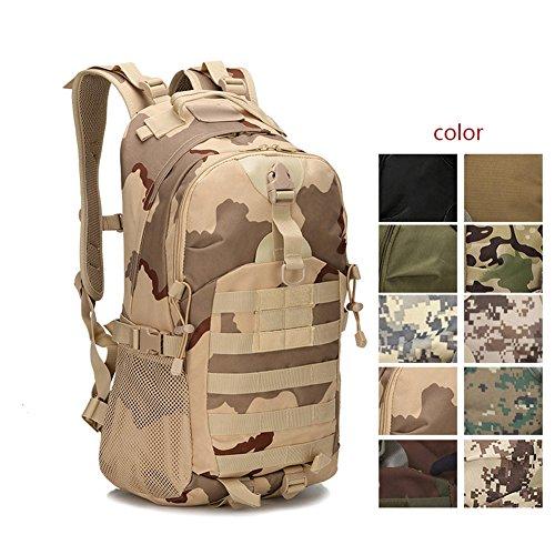 Espeedy Hombres mujeres al aire libre ejército militar mochila táctica trekking mochilas de viaje deporte camping senderismo trekking bolsa de camuflaje #9
