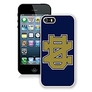 Newest iPhone 5 5S Case ,Notre Dame Fighting Irish White iPhone 5 5S Screen Case Unique And Durable Custom Designed Cover Case