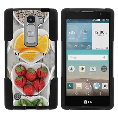 Logo Snack - TurtleArmor | LG Escape 2 Case | LG Logos Case | LG Spirit Case LTE [Gel Max Cover] Hybrid Case Kickstand Shell Hard Protector with Silicone Layer Food Image Collection - Healthy Snacks