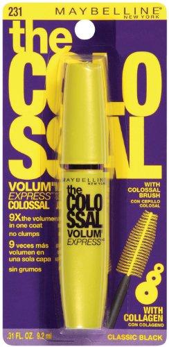 Maybelline New York Le Volum Colossal 'Express Mascara lavable, noir classique 231, 0,31 once liquide