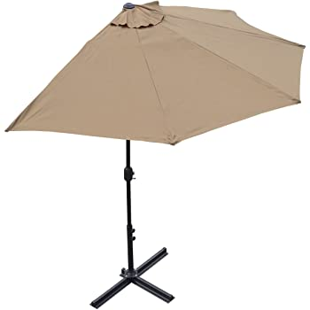 Etonnant BenefitUSA 10u0027 Patio Half Umbrella Wall Balcony Halfrund Sun Shade Market  Garden Outdoor Parasol With