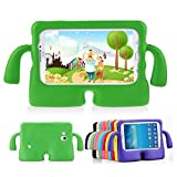 Lioeo Samsung Galaxy Tab 3 / 3 Lite 7.0 Case for Kids Rubber Shock Proof Protective Case Cover with Carry Handle for Samsung Galaxy Tab 3 /3 Lite Tablet 7 inch Screen (Green)