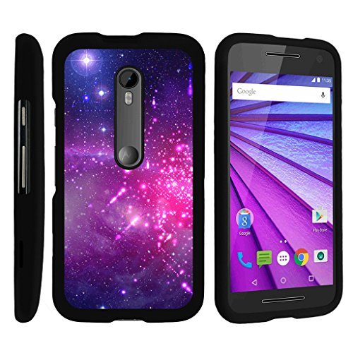 MINITURTLE Case Compatible w/ [Motorola Moto G 3rd Generation Case, Moto G Slim Cover] [Snap Shell] 2 Piece Hard Cover Plastic Snap On Case Heavenly Stars