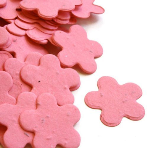 Hot Pink 5-Petal Plantable Seed Confetti (two 350 piece bags = 700pcs) (Wildflower Baby Shower Favors)
