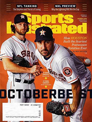 Sports Illustrated Magazine (October 7, 2019) GERRIT COLE & JUSTIN VERLANDER Cover