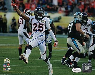 Chris Harris Jr Autographed Denver Broncos 8x10 Photo (SB 50 White) JSA