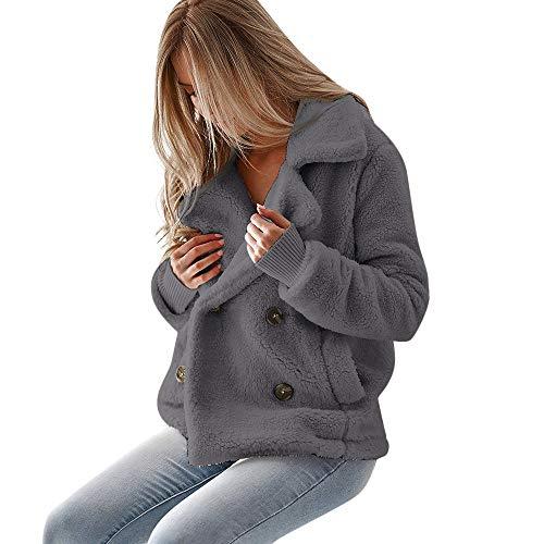Teddy Coat❤Bear Coat,Faux Fur Coat,Fashion Vintage Women Biker Motorcycle Leather Zipper Jacket Overcoat Outwear ()