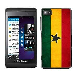 Shell-Star ( National Flag Series-Ghana ) Snap On Hard Protective Case For BackBerry Z10
