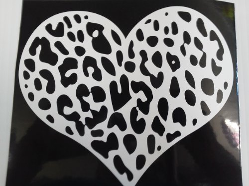Hurricanes Heart (Leopard Cheeta Heart ( Sticker Is All White , No Black !))
