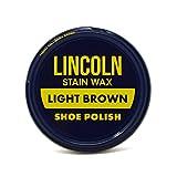 Lincoln Shoe Wax Polish 3 Fl Oz (Light Brown), Light Brown, Size No Size