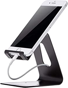 AmazonBasics AMZ-CPS-BK Cell Phone Stand for iPhone and Android, Black