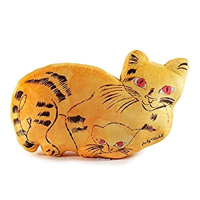 Kidrobot Andy Warhol Plush Cat Pillow (Yellow): Toys & Games