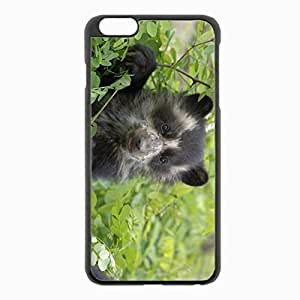 iPhone 6 Plus Black Hardshell Case 5.5inch - grass muzzle climb Desin Images Protector Back Cover