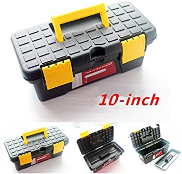 Mini caja de herramientas caja de herramientas caja de herramientas casetón plástico modelo negro amarillo 25,4 cm: Amazon.es: Bricolaje y herramientas