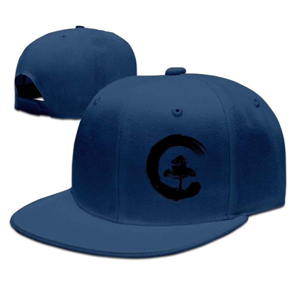 FOOOKL Bonsai Tree Japanese Flat Visor Baseball Cap, Fashion Snapback Hat Natural