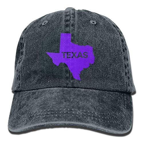 DEFFWB Map Hats Hat Women Texas for Cowgirl State Sport Denim Flag Men Cowboy Skull Cap AwArPqxnfI