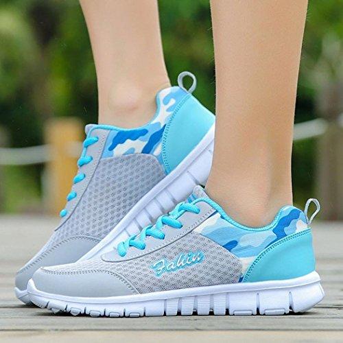 Air Flats Marche Sport En À Femme Bleu Lacets Fantaisiez Plein Pour Décontractées De Sneakers Chaussures Baskets Femmes 8PwRq0x