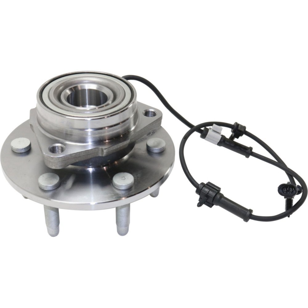 Front Wheel Hub and Bearing Assembly For 1999-2007 Chevrolet Silverado 1500 Tahoe With ABS Sensor and Wheel Studs 6-Lug Wheel - 3-Bolt Flange 4x4 Models Only