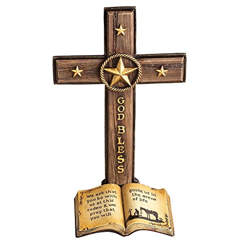 Western Tabletop Cross with Star Accents