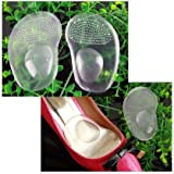 5 Pair Silicone Gel Cushion Insoles Front pad Feet Shoe Soft Pad For Foot Care#Q