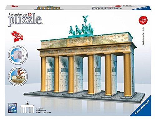 Ravensburger 12551 - Brandenburger Tor-Berlin - 324 Teile 3D Puzzle-Bauwerke