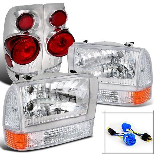 Ford F250/350 Super Duty Chrome Headlights+Corner Signal Lights+3D Tail - Super F550 Duty Headlight Door