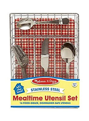 Melissa & Doug Let's Play House! Mealtime Utensil Set