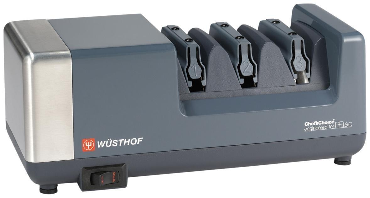 Wusthof PEtec Electric Sharpener, Gray by Wüsthof