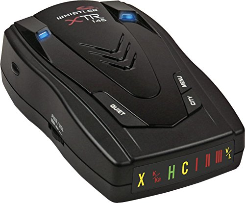 Whistler XTR-145 Laser Radar Detector: 360 Degree Protection, Icon Display, and Tone Alerts from Whistler