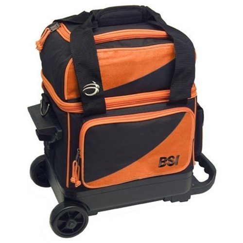 Cheap BSI Prestige Single Roller Bowling Bag- Orange/Black ()