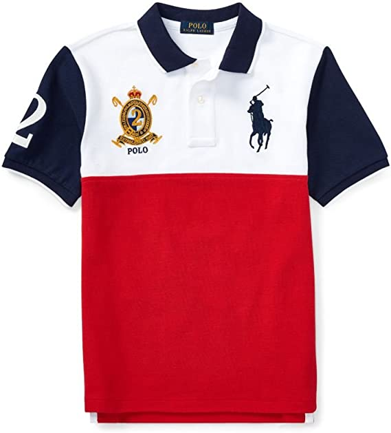 Ralph Lauren Boys Polo Shirt Red Deep Orangey Red (Large): Amazon ...