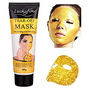 LuckyFine Peel-off Facial Mask Anti-Wrinkle Rejuvinating Gold Mask