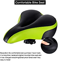 TONBUX Most Comfortable Bicycle Seat Bike Seat Replacement with Dual Shock