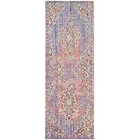 Safavieh Windsor Collection WDS317F Lavender and Fuchsia Vintage Distressed Bohemian Runner (3 x 8)