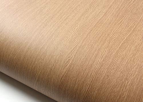 ROSEROSA Peel & Stick Backsplash Horizontal Teak & Stripe Wood Textured Vinyl Self-Adhesive Wallpaper Shelf Liner Teak Wood (WD305 : 2.00 Feet X 6.56 Feet)