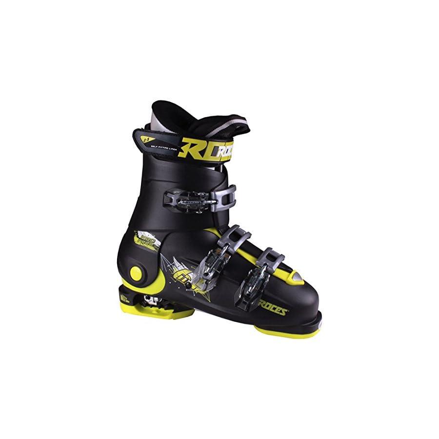 Roces 2018 Idea Adjustable Black/Lime Kid's Ski Boots 22.5 25.5