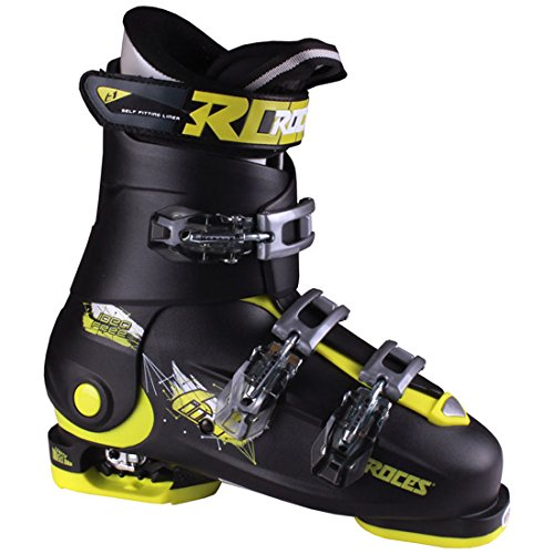 Roces IDEA Free Adjustable Ski Boot Black-Lime Green 22.5-25.5