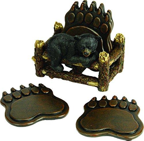 River's Edge Bear Paw Coaster Set