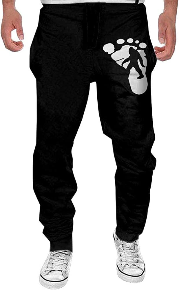 Mens Bigfoot Sasquatch Casual Cotton Jogger Pants,Running Beam Trousers