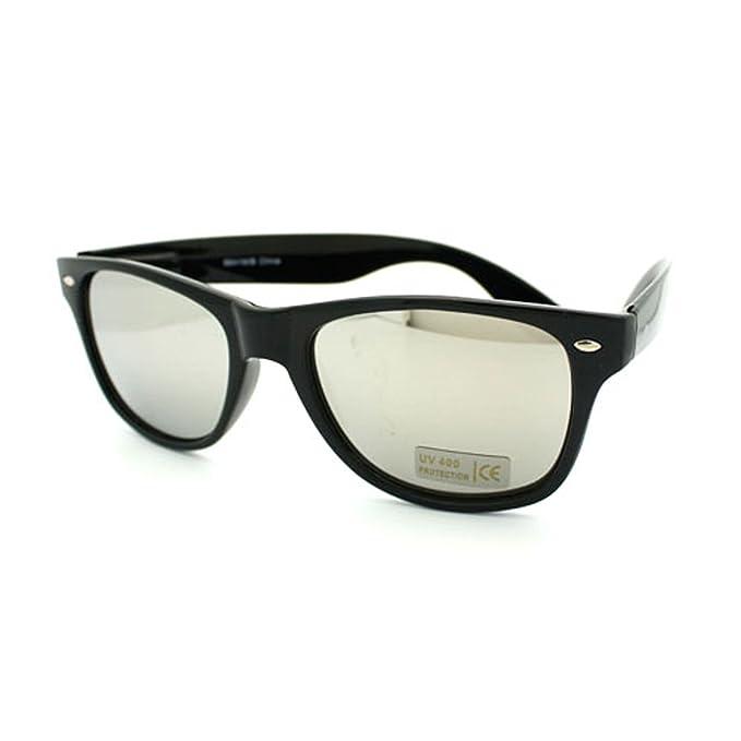 Amazon.com: lente de espejo Wayfarer anteojos de sol Classic ...