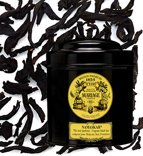 MARIAGE FRERES. Namaskar Tea, 100g Loose Tea, in a Tin Caddy (1 Pack) NEW SPECIAL EDITION - USA Stock