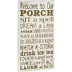 Welcome to Our Porch Wooden 15 x 8 inch Wall Sign