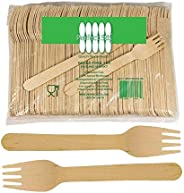 Perfect Stix Green Fork 158-250ct Disposable Wooden Forks (Pack of 250), Plain Forks