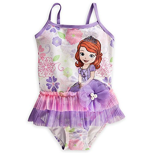 Disney Store Sofia the First Swimsuit Size XXS 2 (2T): Deluxe 1-Piece - First The Swimsuit