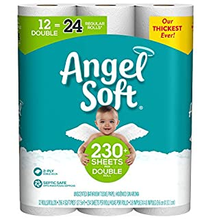 Angel Soft Toilet Paper, 12 Double Rolls, 12 Count