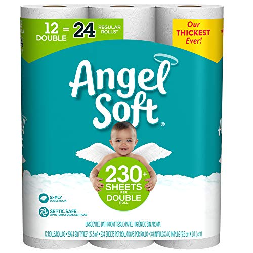 Angel Soft Toilet Paper, Double Rolls, 234 Sheets Per Roll, 12 Count