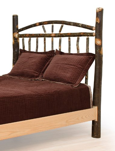 Furniture Barn USA Rustic Hickory Wagon Wheel Bed - Headboard Only - Full Size- Amish Made
