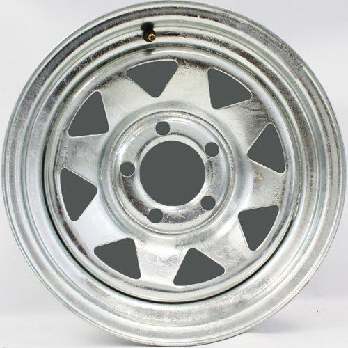 14x6 Galvanized Spoke Trailer Wheel 5-4.5'' Bolt Circle