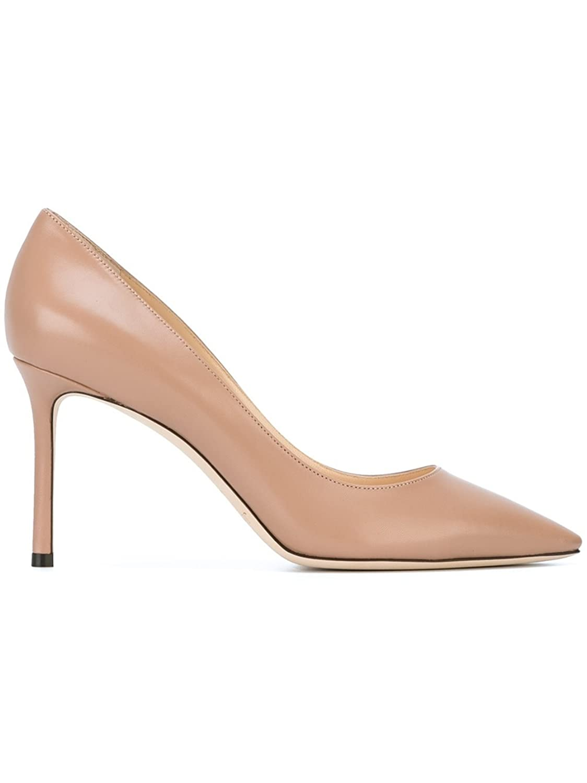 Jimmy Choo Mujer ROMY85KIDSM002 Beige Cuero Zapatos Altos 36 IT - Tamao de la Marca 36
