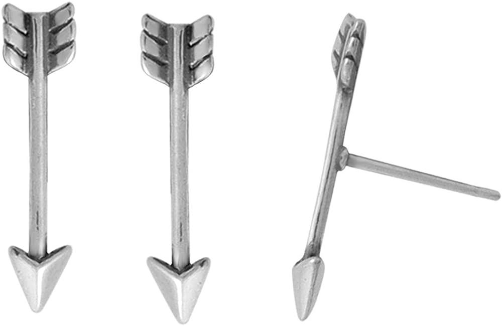 Boma Jewelry Sterling Silver Arrow Stud Earrings